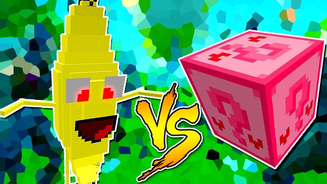 Banana Monstro Vs Lucky Block Amor Minecraft Lucky Block