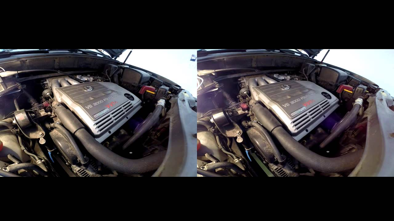 Lexus RX300 Top Engine mount  Before and after