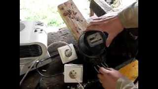 Остановка индукционного электросчетчика  без магнита(Отключается входной и выходной провод нуля, подключается заземление в замен отключенного нуля. Большой..., 2012-07-11T08:59:59.000Z)