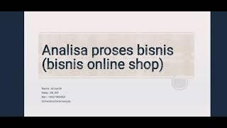 Analisa Proses Bisnis Bisnis Online Shop Youtube