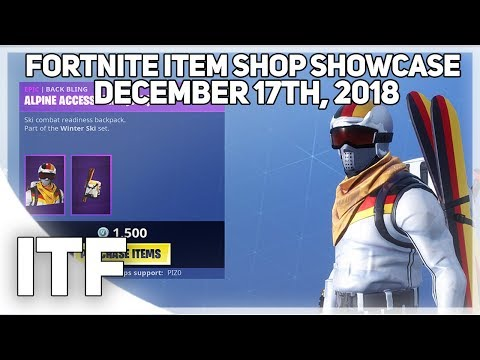 Fortnite Item Shop ALPINE ACES ARE BACK! [Decemeber 17th, 2018] (Fortnite Battle Royale)