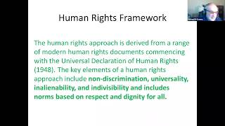 Dr. Michael B. Greene: 'Violence & Violence Prevention: A Human Rights Framework'