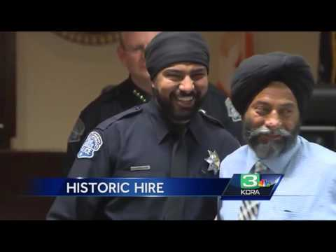 First Sikh Officer Sworn In As Modesto Police Officer