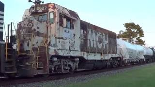 railfanning in mebane nc with emd foreign power a cf7 aug sept 2016