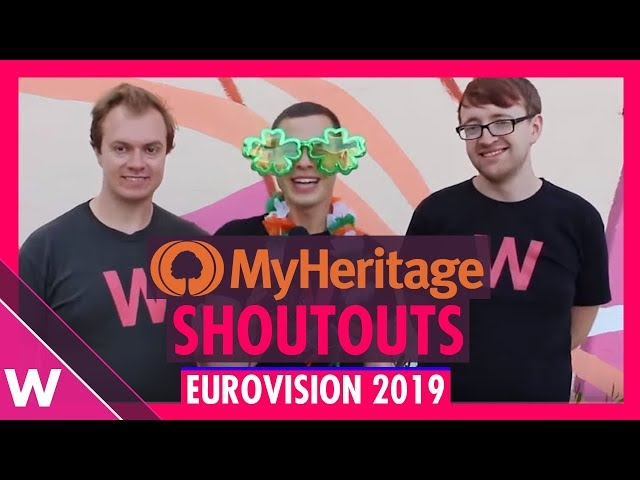Our Eurovision 2019 shoutouts to MyHeritage in Tel Aviv