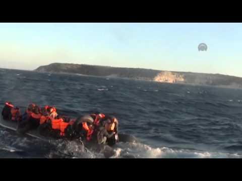 Turkish Coast Guard rescued 40 migrants in Aegean Sea