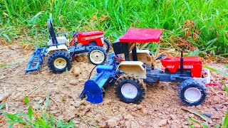 Toy tractor model with rotavator swaraj 855