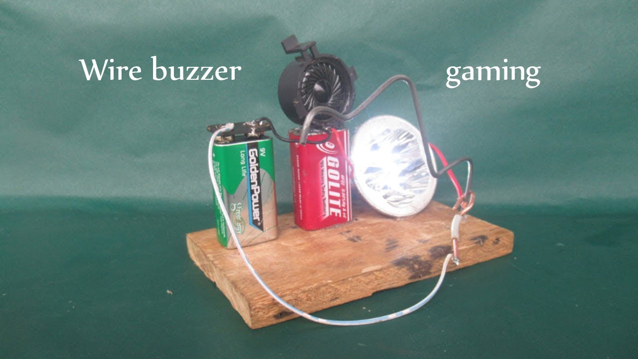 How to make buzz wire game easy - DIY science projects wire buzzer gaming at school