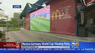 Soccer Fans Gather For FIFA World Cup Viewing Party