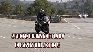 Insane 250km/HR Flyby in Kawasaki ZX10R | #90