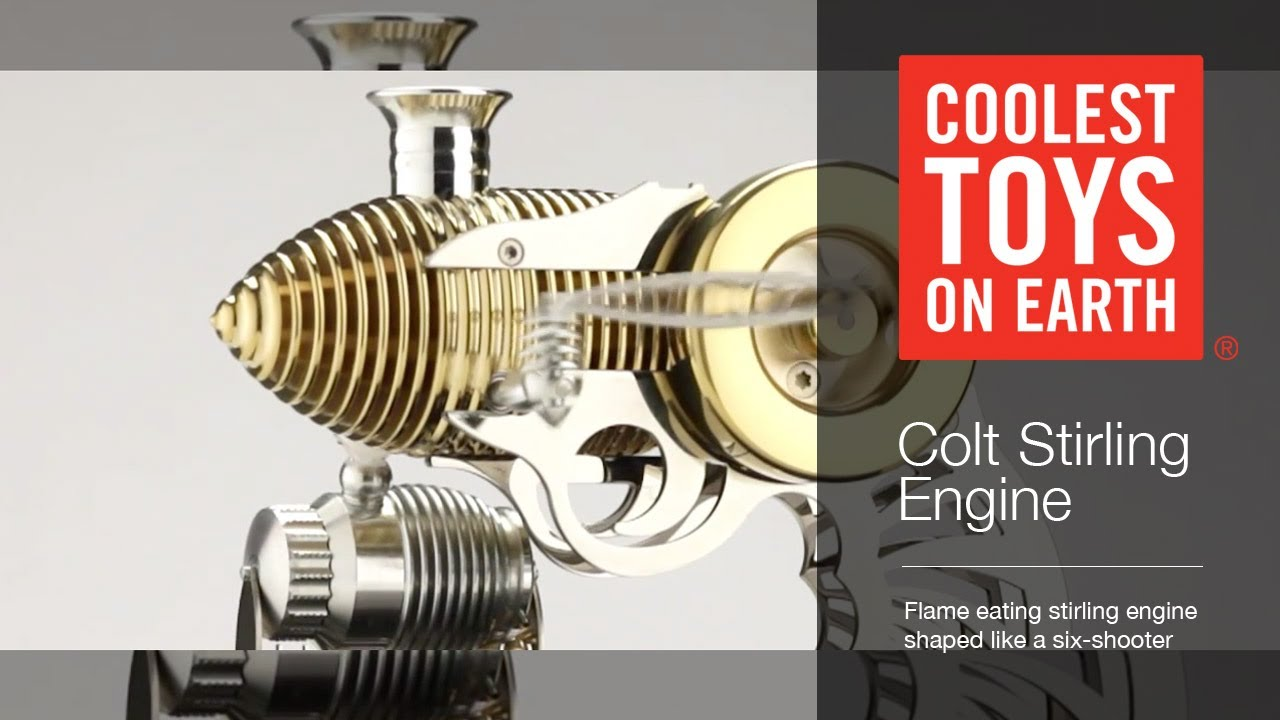Coolest Toys On Earth : Flame eater colt stirling engine coolest toys on earth