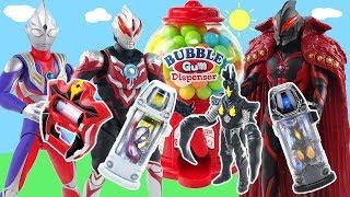 奧特曼糖果機變奧特膠囊對戰怪獸貝利亞 超人力霸王ultraman