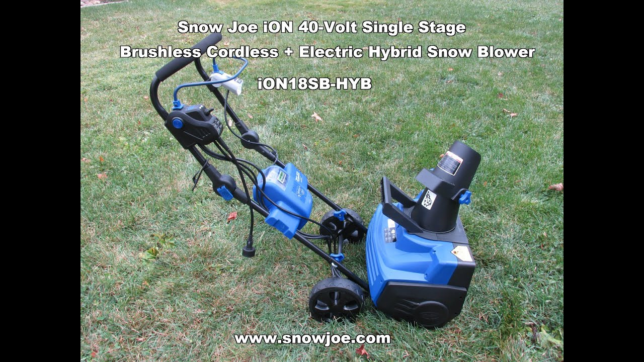 Snow Joe Ion 40 Volt Cordless Electric Hybrid Er Ion18sb Hyb Unboxing Review