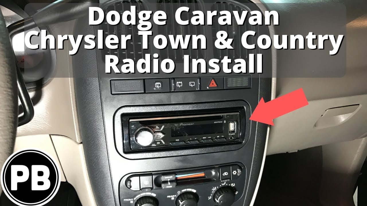 small resolution of 2001 2007 dodge chrysler caravan town country stereo install pioneer avh x4900bt