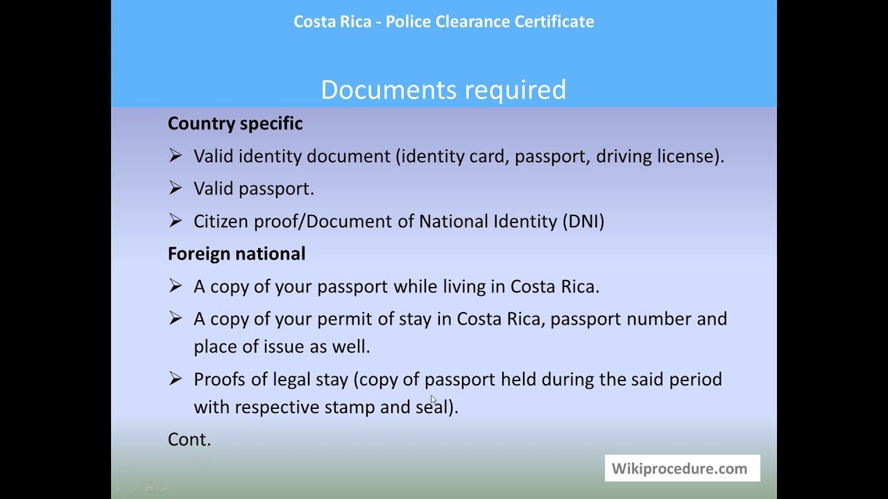 rica clearance costa police