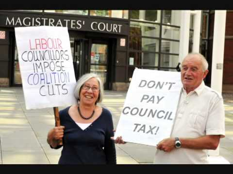Protest Against Council Tax : Ross Speech Outside Nottingham Magistrates