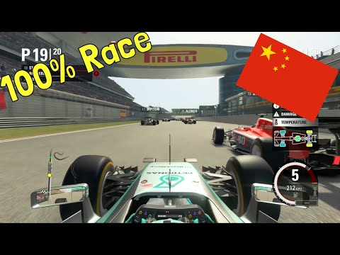 F1 2015 - 100% Race at Shanghai International Circuit, China in Rosberg's Mercedes