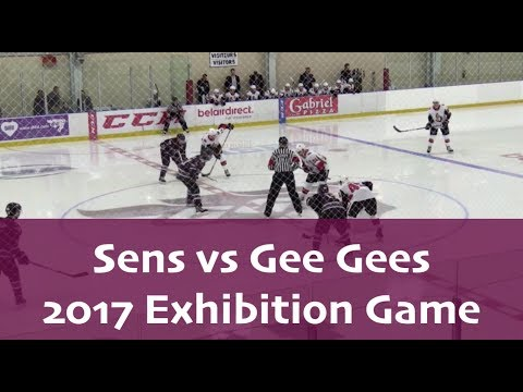 Belleville Senators vs Ottawa Gee Gees - Full Game - September 2017