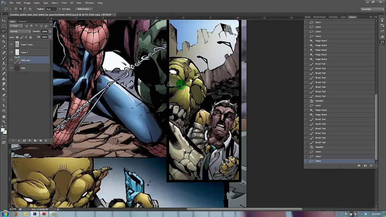 Comic Book Speed Painting With Photoshop