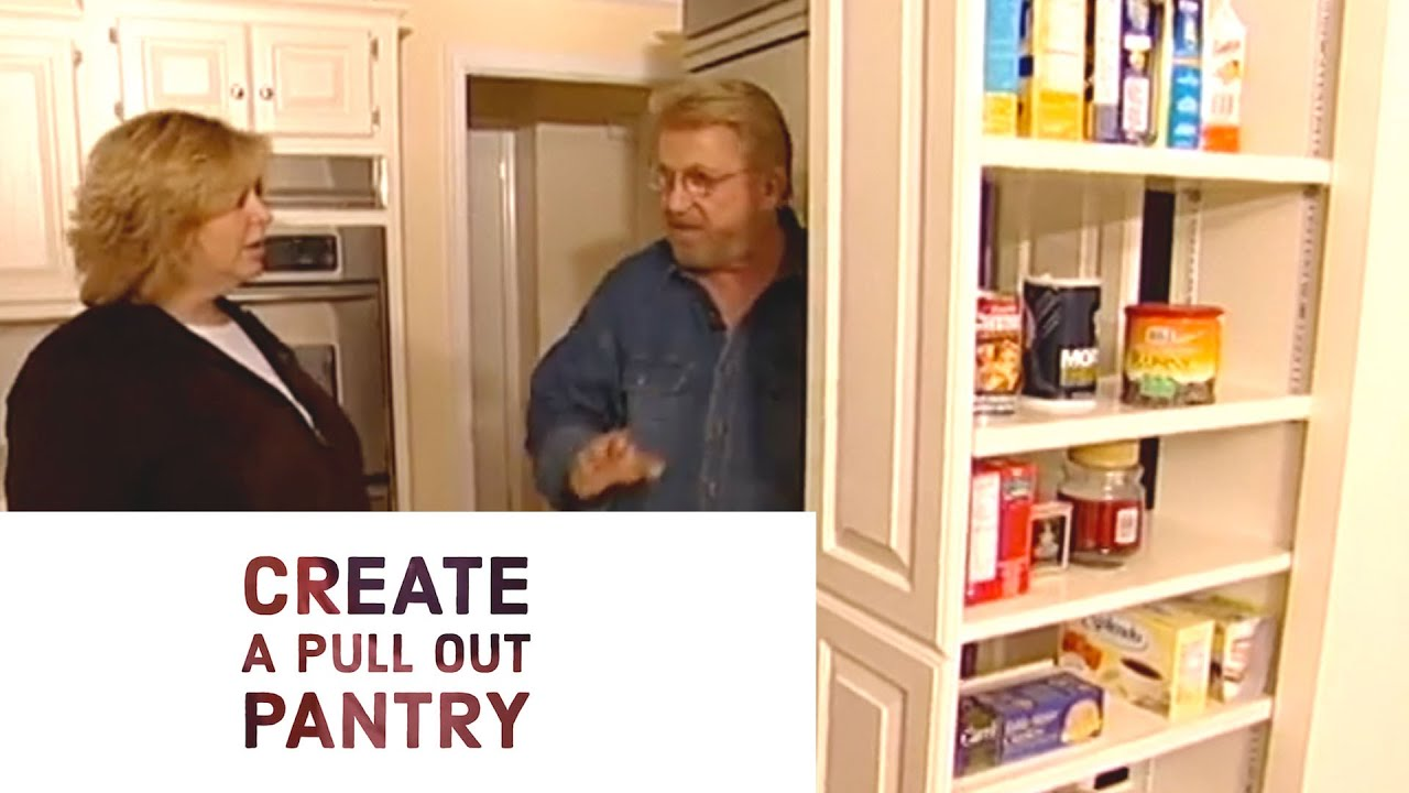 Build A Pull Out Pantry Youtube