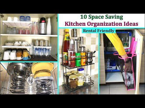 10 Kitchen Organization Ideas   Space Saving Ideas   Kitchen Organizing Tips   Her Fab Way
