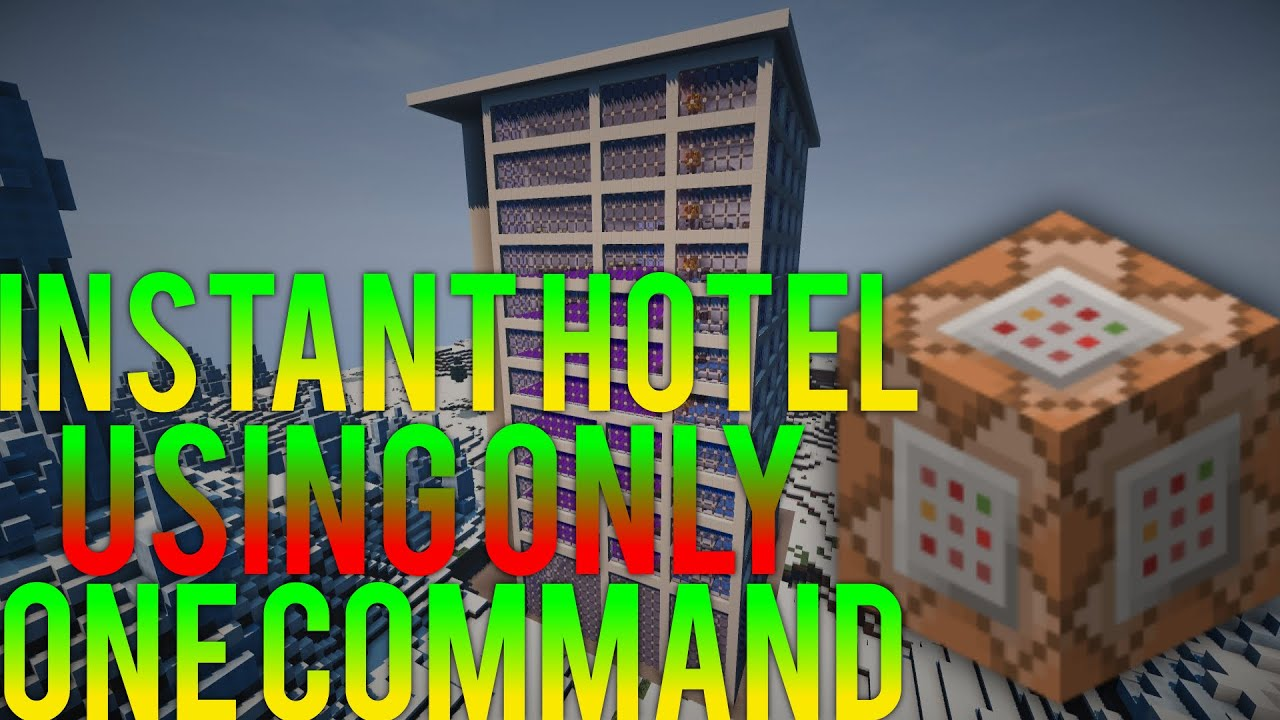 Minecraft Instant Hotel With Command