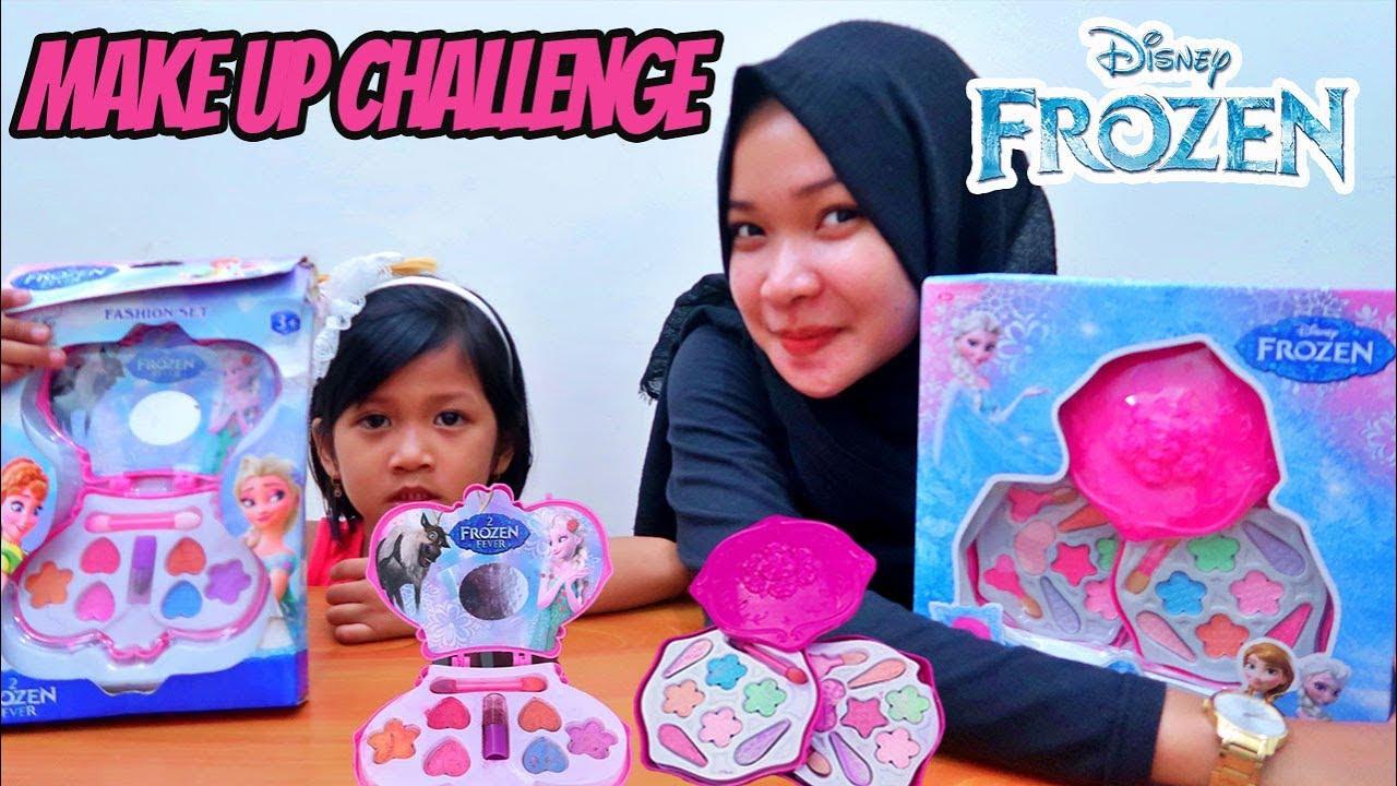 Unboxing 2 Make Up Frozen Make Up Challenge Anak Pakai Makeup Mainan Anak Lucu Guys Youtube
