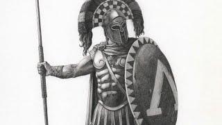 Drawing Spartan Hoplite | Time-lapse | Drawnomix