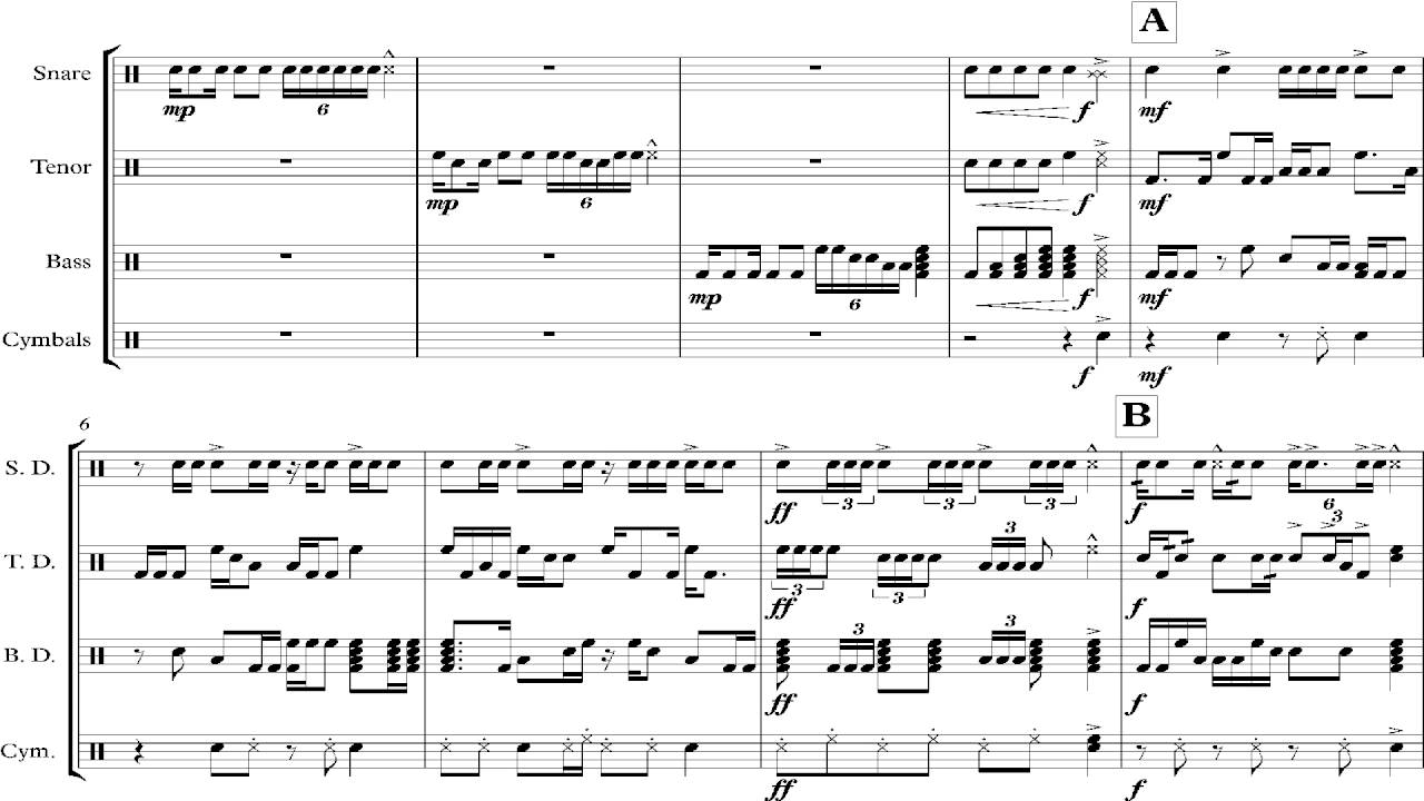 the duel drumline cadence sheet music youtube