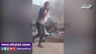 حريق وحدة مرور ديرب نجم بالشرقية.. فيديو وصور