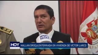 Víctor Larco: Hallan droga enterrada en vivienda