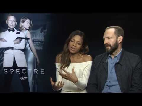 Ralph Fiennes and Naomie Harris Interview for Spectre