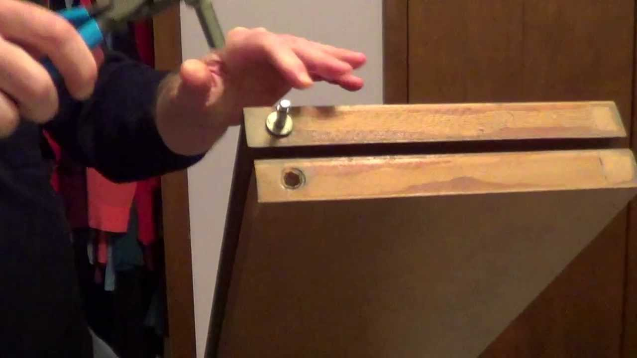How To Repair And Adjust Bifold Closet Door Youtube