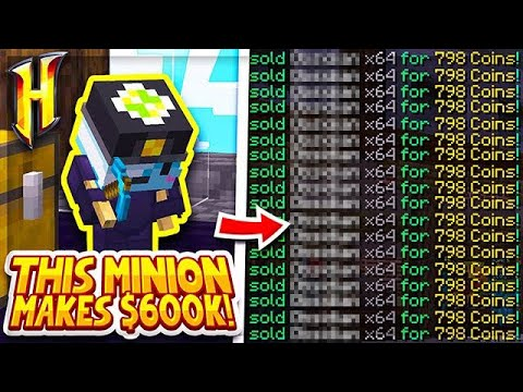 Hypixel Skyblock : HOW TO MAKE $600,000 WITH ONE MINION! l Minecraft Skyblock (24)