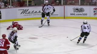 Helm in pain after taking big hit by Johnson
