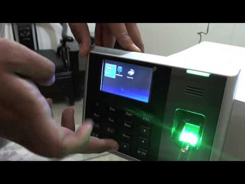 How to configure ZK S30 biometric time attendance fingerprint reader