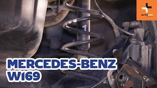 Bracket, stabilizer mounting change on MERCEDES-BENZ A-CLASS (W169) - video instructions