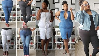 FASHION NOVA CURVE DENIM Try On & Haul| Plus Size Fashion