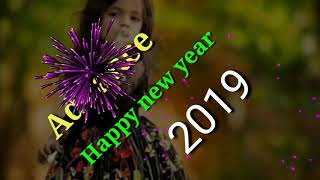 Happy new year wishes bye bye 2018 wellcome 2019 all in one