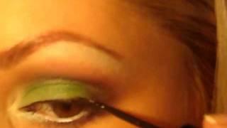 Макияж для Карих Глаз /Зеленый смоки.