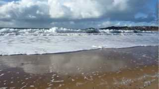 La plage de Beg Leguer près de Lannion le 10 novembre 2012