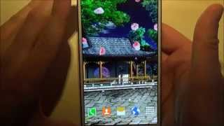 Free oriental garden live wallpaper for Android phones and tablets