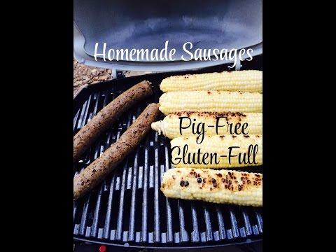 Homemade Vegan Sausages (Pig-Free. Gluten-Full.)