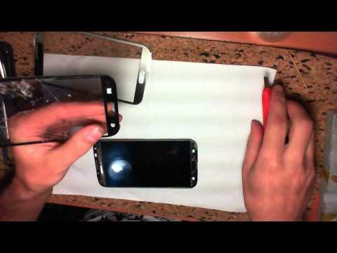Ремонт Samsung Note 2 N7100 Замена стекла - Replacing the glass