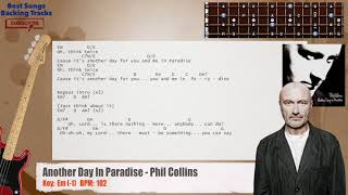 Another Day In Paradise Phil Collins Bass Backing Track With Chords And Lyrics