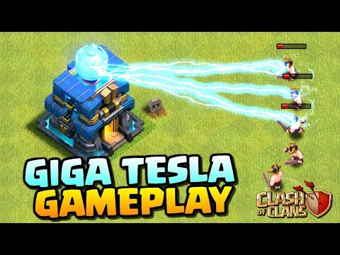 GIGA TESLA GAMEPLAY - Clash of Clans Town Hall 12 Update - New Defense for TH12 Attacks in CoC!
