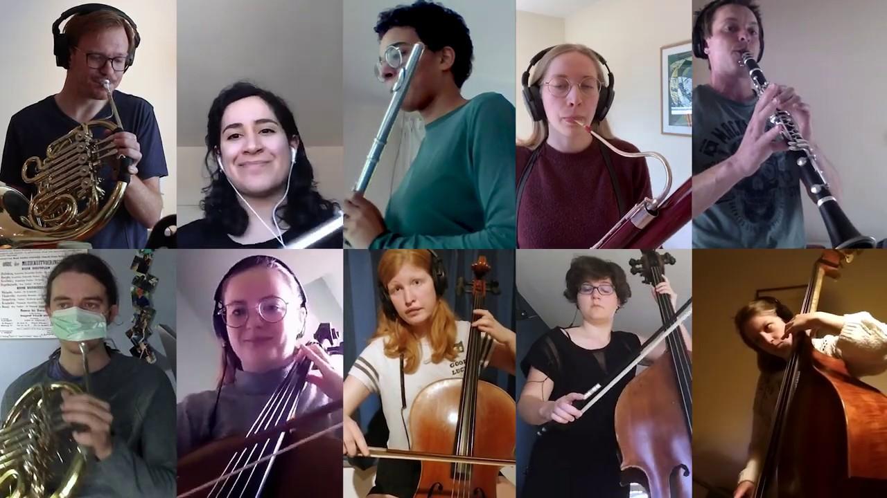 Symfonisch orkest vanuit hun kot