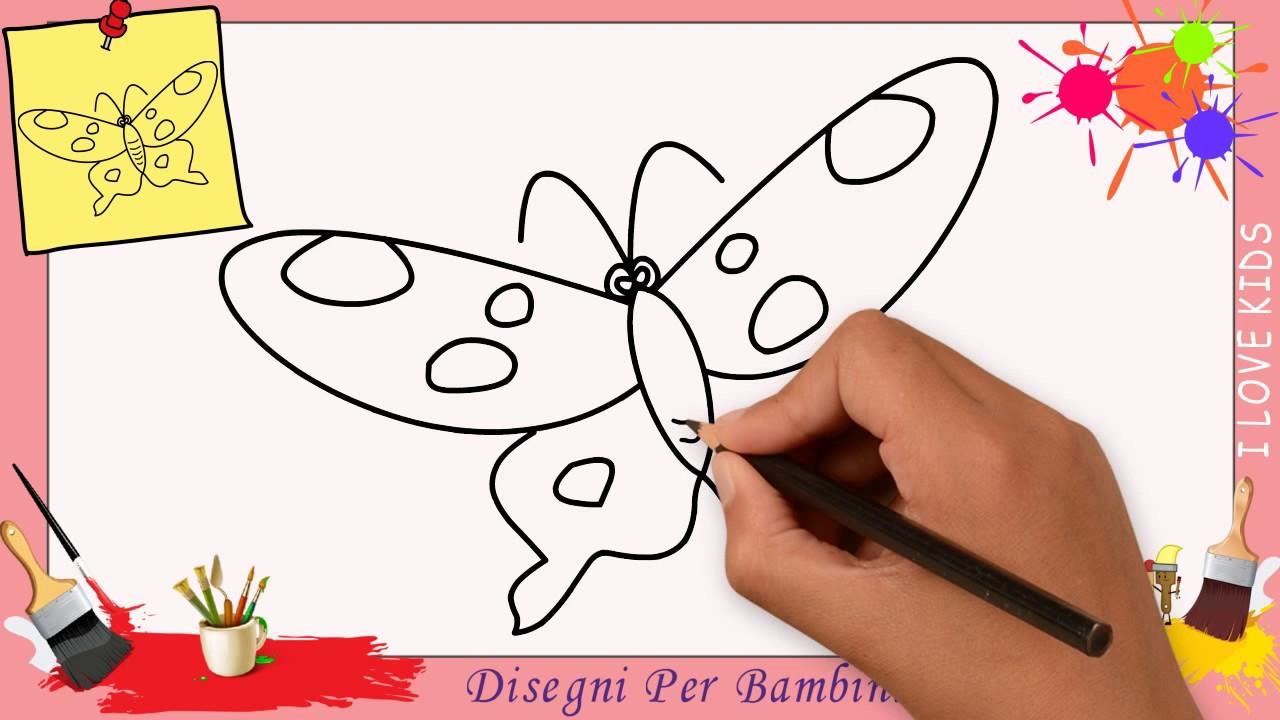 Come Disegnare Un Farfalla Facile Passo Per Passo Per Bambini