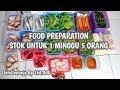 BELANJA MINGGUAN. UNTUK 1 MINGGU 5 ORANG. FOOD PREPARATION INDONESIA