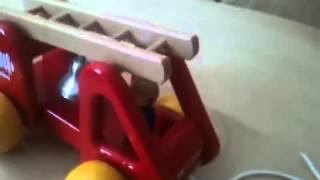 Wooden Greek Toy Kouvalias Fire Truck